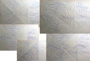 Getekende quiltlijnen