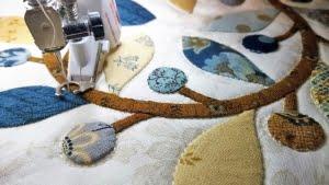 close-up hoekblok naaimachine quilten