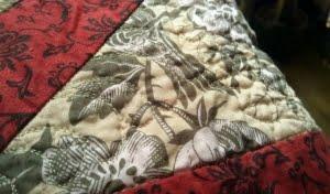 Detail gequilte veer