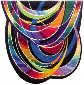 Gedragen - Quilt van Marjolien Peters; 125 x 127 cm