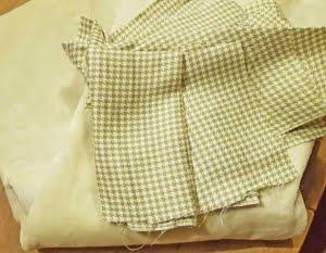Selectie groene stofjes voor funnybunny