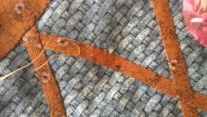 Detailfoto handquilten