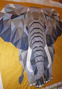 MdBs Elephant Abstractions deels gequilt