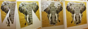 ElephantAbstractions in progress - via Foundation piecing