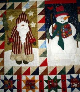 Een van de blokken uit de December-quilt