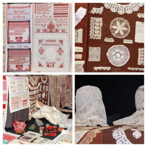 Pluk de dag collage van borduurwerk