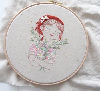 geborduurd portret in borduurring