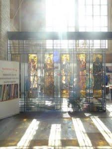 glas in lood in de kerk van Deventer