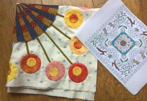 Sarah Fielke's BOM met lente kleuren