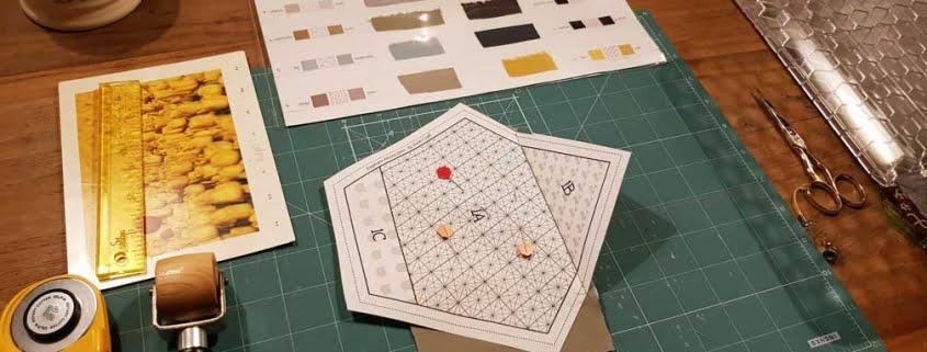 Staalkaart bij Foundation Piecing