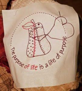 Life is Beautiful stitchery