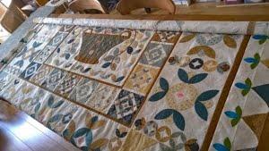 Top oprollen - voorbereidingen naaimachine quilten