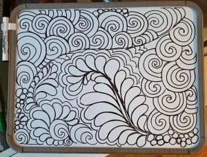 filler oefenen zoals een veer met swirls