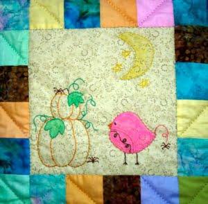 Birdie is ingekleurd met aquarel