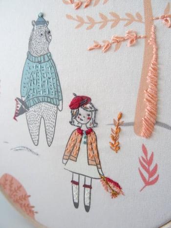 detail borduurwerk