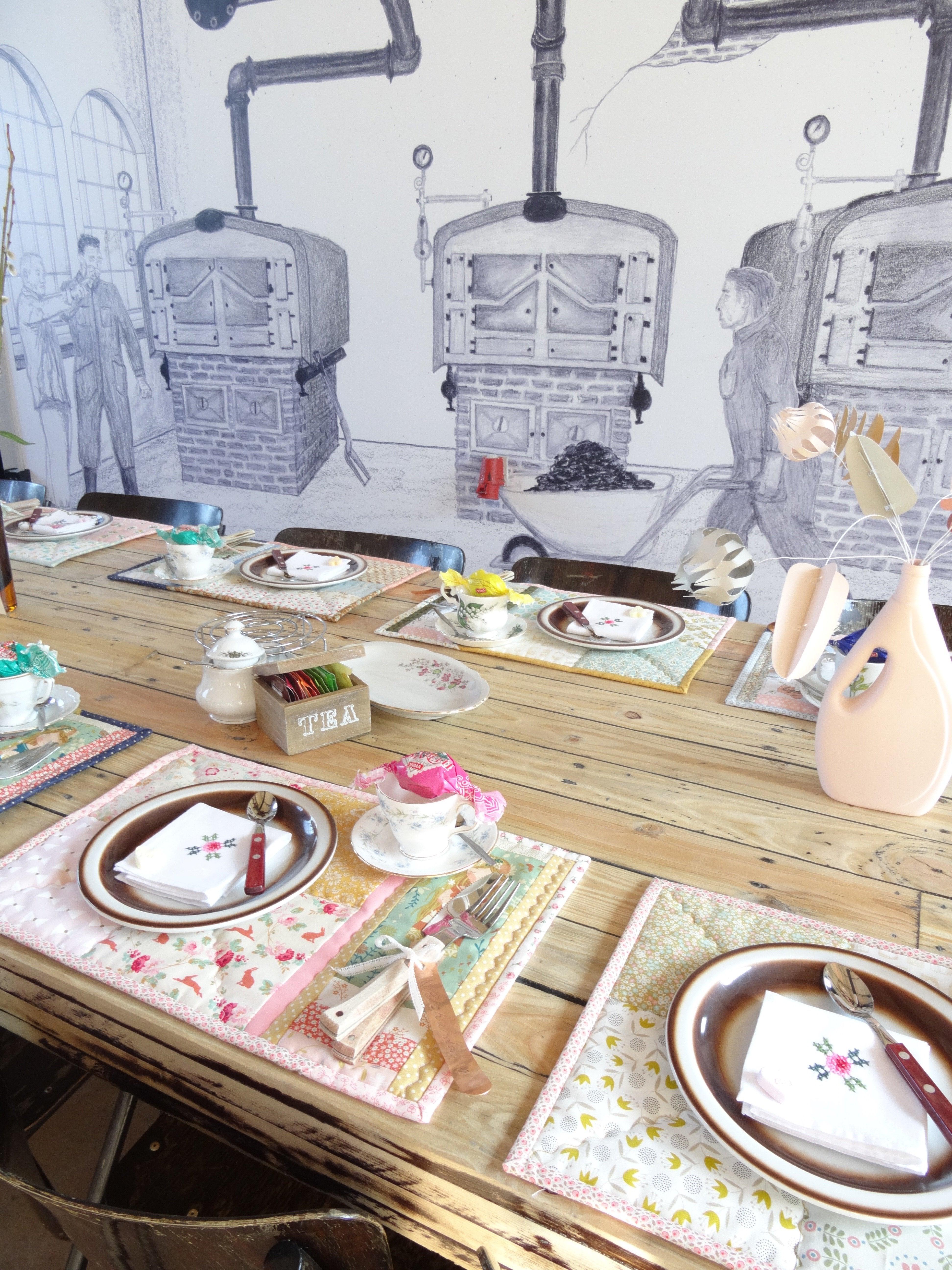 gedekte tafel met placemats