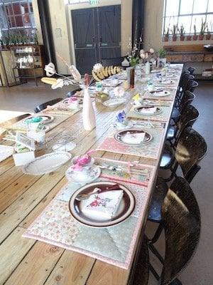 gedekte tafel met 17 placemats