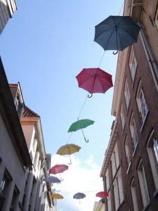 Paraplu's in Deventer Stad