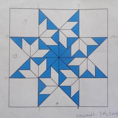patroon blaadjes blok