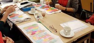regiodag Flevoland, werken met oplosbare pastels