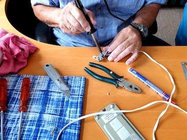 reparatie naaimachine voet