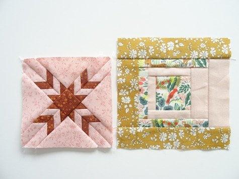 quiltblokje van 6,5 inch en 5,25 inch