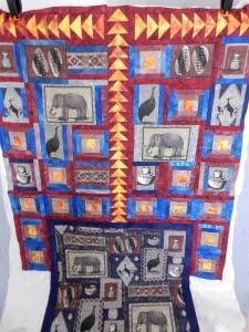 Afrikaanse stoffen verwerkt