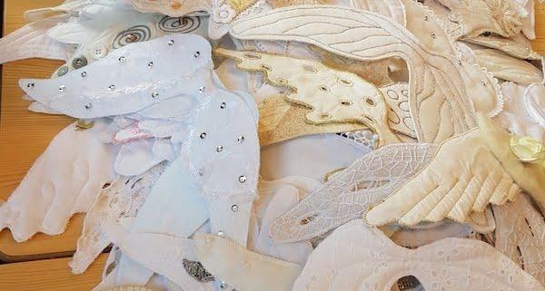 De eerste vleugels zijn bij Fleur gearriveerd voor het textielfestival Leiden 2020