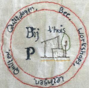 Petra Brueren detail bij p thuis levensloopquiltblok werk