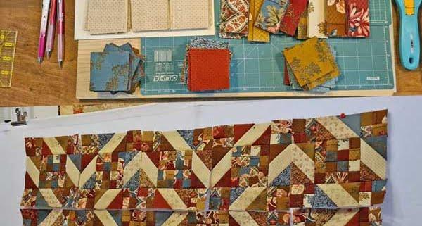 Geometrische quilt met prep