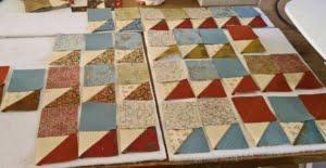 Voorbereide blokken voor driehoeken