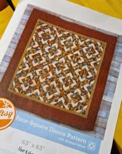 Patroon Four-Square Dance van Monique Dillard - geometrisch ontwerp