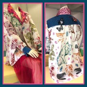 blouse van kleurrijke quiltstof