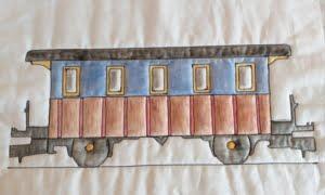 wagon ingekleurd